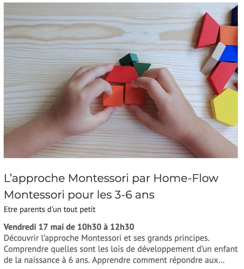 Evènement : L'approche Montessori par Home-Flow Montessori pour les 3-6 ans