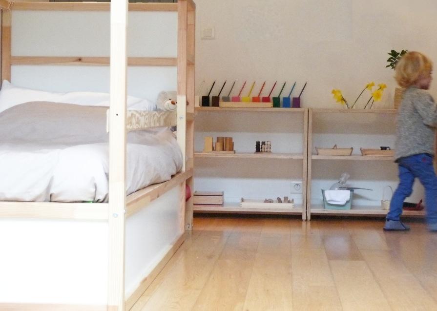 ambiance Montessori, étagère Home Flow Montessori