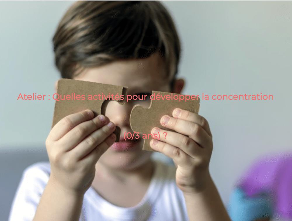 concentration, Montessori